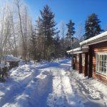 Lassinmaja talvella